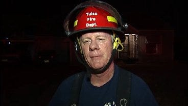 WEB EXTRA: Tulsa Fire Captain Randy Steed Talks About House Fire