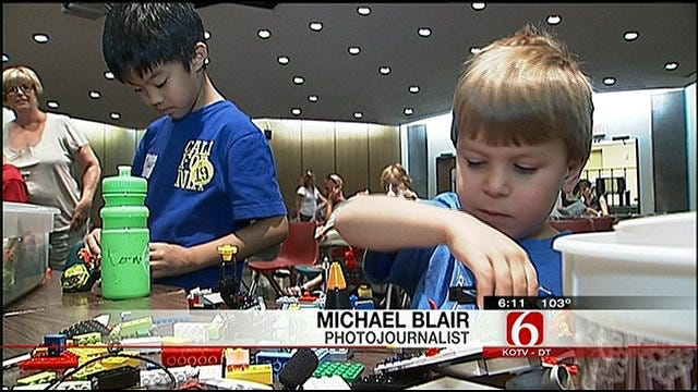 Budding Lego Engineers Compete In Tulsa Library Competition