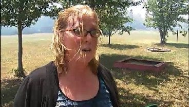 WEB EXTRA: Creek County Resident CC Marino Talks About The Fire Near Her Home