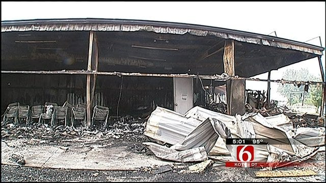Members Still In Shock After Fire Destroys Vinita Church