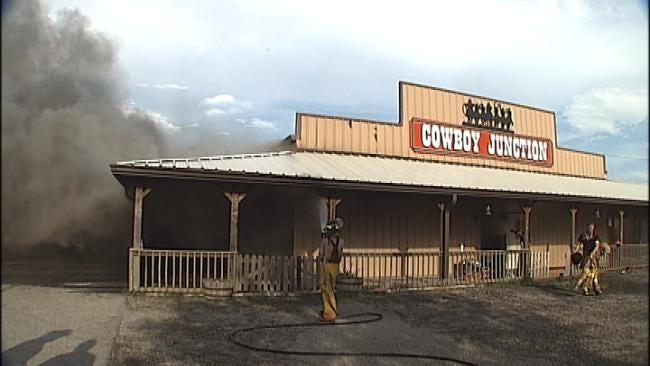 WEB EXTRA: Raw Video Of Vinita Church Fire