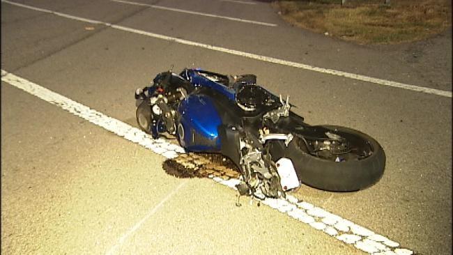 WEB EXTRA: Motorcyclist Injured In High Speed Tulsa Wreck