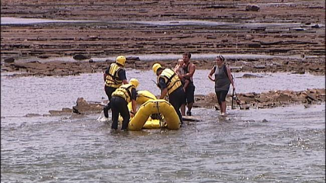 WEB EXTRA: Family Fishing In The Arkansas River Rescued By Tulsa Fire