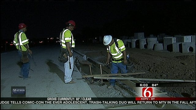 Road Construction Crews Switch To Nightside Work