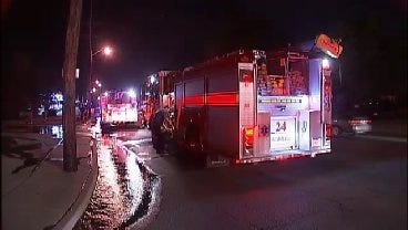 WEB EXTRA: Video From Scene Of Building Fire In North Tulsa