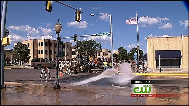 Wagoner Residents Without Water After Valve Breaks