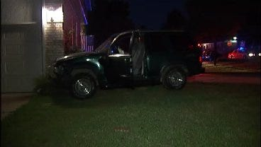 WEB EXTRA: Video From Scene Of SUV Into Sand Springs Garage