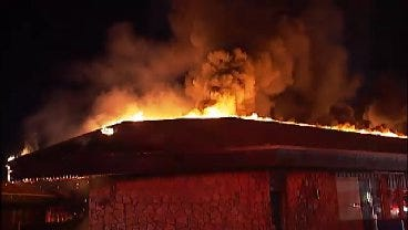 WEB EXTRA: Video From Scene Of East Tulsa Mall Fire