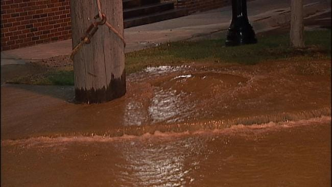 WEB EXTRA: Video From A Water Main Break At Detroit And Brady