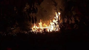 WEB EXTRA: Video From Scene Of Berryhill Grass Fire
