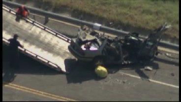 WEB EXTRA: SkyNews 6 Flies Over Double Fatality Crash Near Braggs