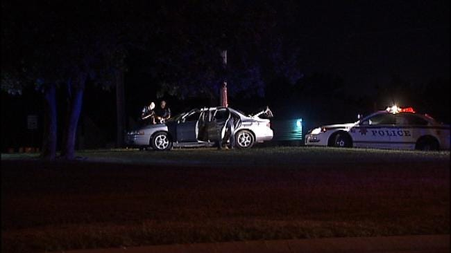 WEB EXTRA: Video At The Scene Of Tulsa Police Traffic Stop