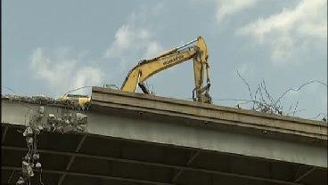WEB EXTRA: Video Of Crews Working To Demolish The I-244 Arkansas River Bridge