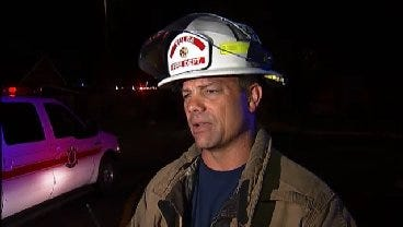 WEB EXTRA: Tulsa Fire District Chief Stacy Bell Talks About Apartment Fire