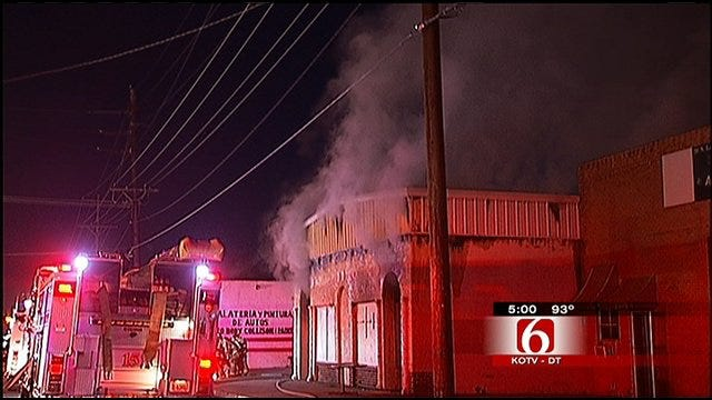 Firefighters Call Third Fire At North Tulsa Business Suspicious