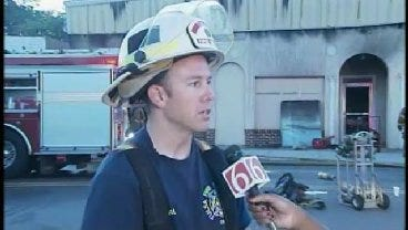 WEB EXTRA: Tulsa Fire District Chief Jeremy Moore Talks About North Lewis Fire