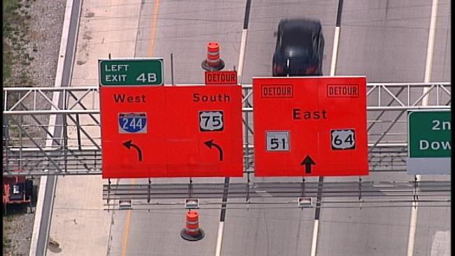WEB EXTRA: SkyNews6 Flies Over I-244 Bridge Construction