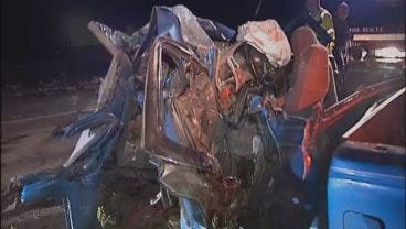 WEB EXTRA: Video Of The Fatal Crash Scene In Okmulgee County