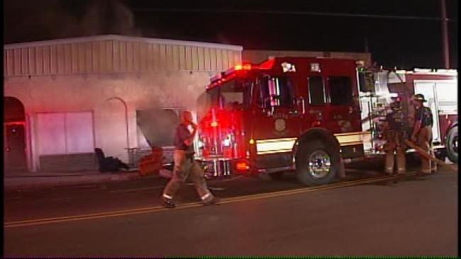 WEB EXTRA: Video From Scene Of Vacant Tulsa Building Fire