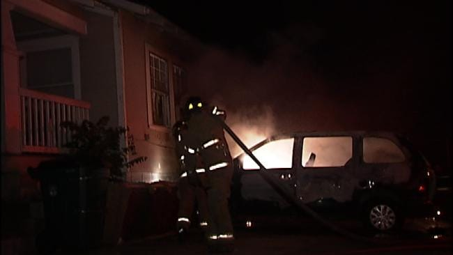 WEB EXTRA: Video From Scene Of Minivan Fire