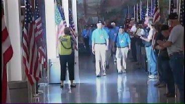 WEB EXTRA: Video Of World War II Vets Arriving At Tulsa International Airport
