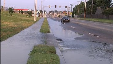 WEB EXTRA: Water Main Break In 6900 Block Of East 21st Street