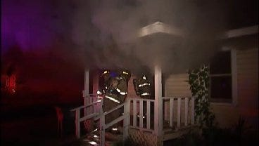 WEB EXTRA: Video Of Tulsa Firefighters Attacking Fire At Vacant House