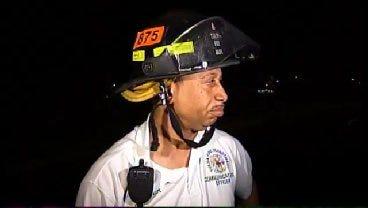 WEB EXTRA: Tulsa Firefighter Gerry Tarver Talks About Tire Business Fire