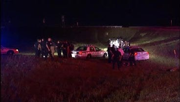 WEB EXTRA: Video From Scene Of End Of Tulsa Police Chase