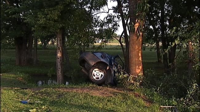 WEB EXTRA: Man Killed When Car Slams Into Tree Near Chelsea
