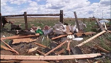 WEB EXTRA: Video Of Storm Damage In Guthrie, Oklahoma