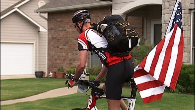 Tulsa Marine Begins Next Leg Of Cross Country Trek
