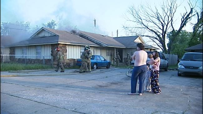 WEB EXTRA: Residents Of A Tulsa Duplex Wake Up To Flames, Smoke