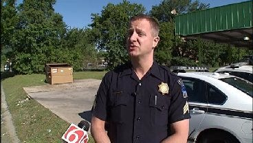 WEB EXTRA: Tulsa Police Discuss Meth Lab Remnants Found At Tulsa Car Wash