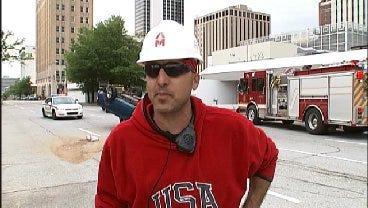 WEB EXTRA: Construction Worker Described Downtown Tulsa Crash, Rescue