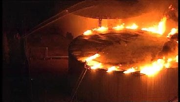 WEB EXTRA: SkyNews6 Flies Over Holly Refinery Fire