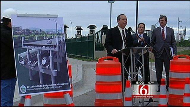 ODOT Breaks Ground On I-244 Bridge In Tulsa