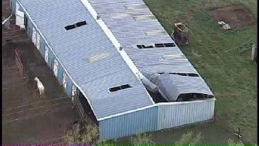 WEB EXTRA: SkyNews6 Captures Storm Damage Near Hominy