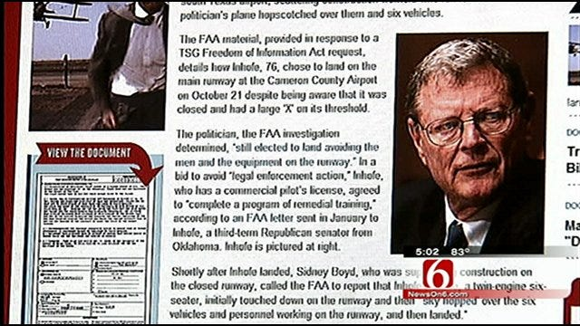 Report: Oklahoma Senator Jim Inhofe Intentionally Landed On Closed Runway