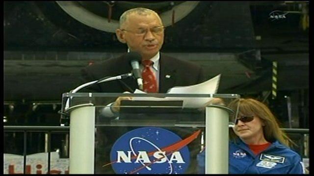 WEB EXTRA: NASA Director Charles Bolden Makes Shuttle Announcement