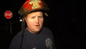 WEB EXTRA: Tulsa Fire Captain James Watson Talks About Early Monday House Fire