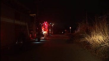 WEB EXTRA: Tulsa Firefighters Extinguish Grass Fire On North Troost