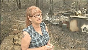 WEB EXTRA: Cleveland, Oklahoma Resident Loses 'Everything' In Fire