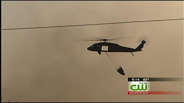 Residents Evacuate As Wildfire Burns 4 Homes Near Cleveland, Oklahoma