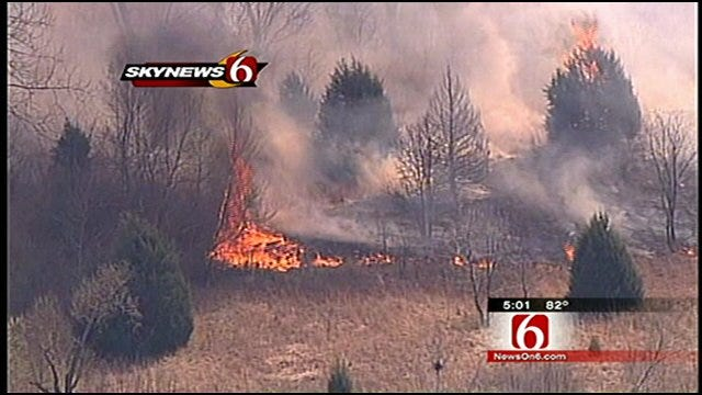 Keystone Fire Chief Surveys Wildfires From SkyNews6
