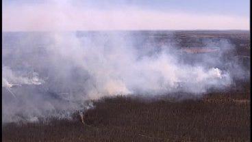 WEB EXTRA: Grassfire Burns Near Bixby