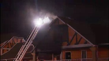 WEB EXTRA: Video From Scene Of Tulsa Meth Lab Fire At Hotel