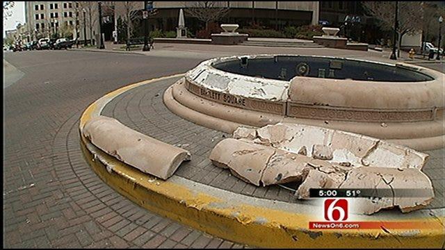 City Of Tulsa: Bartlett Fountain Damage Severe