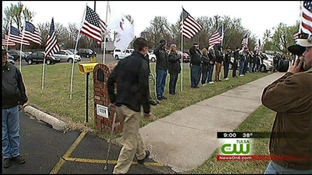 American Legion Salutes Injured Oklahoma Soldier