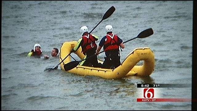 Limestone Firefighters Pull Two Canoers From Stone Canyon Lake